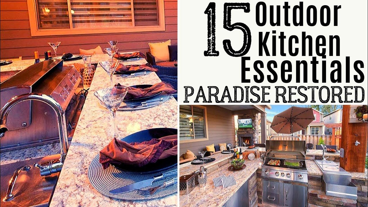 15 outdoor kitchen essentials youtube in 2020 outdoor kitchen build outdoor kitchen on outdoor kitchen essentials id=41236