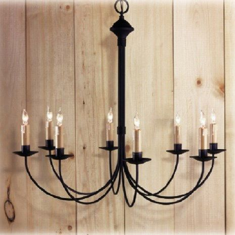 Country Traditions 411 8 Wythe Light Chandelier In Black