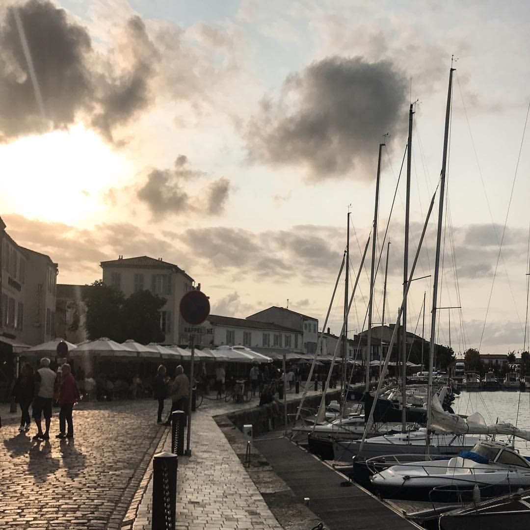 Couché de soleil sur la fin de ce séjour à île de Ré 💗
