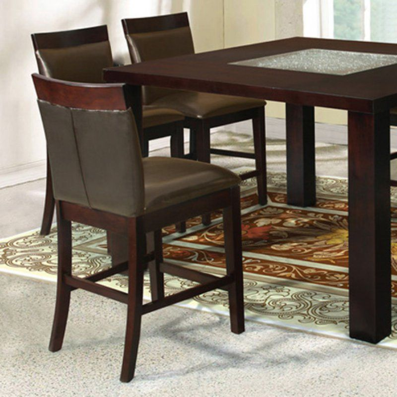Home Source Malcolm Counter Height Chair - Set of 2 - HOME190-1