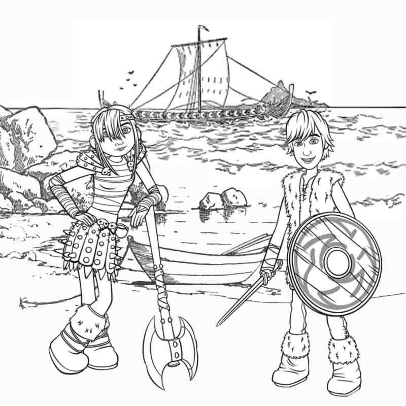 kids cartoon Viking Snotlout Astrid and Hiccup How To Train Your