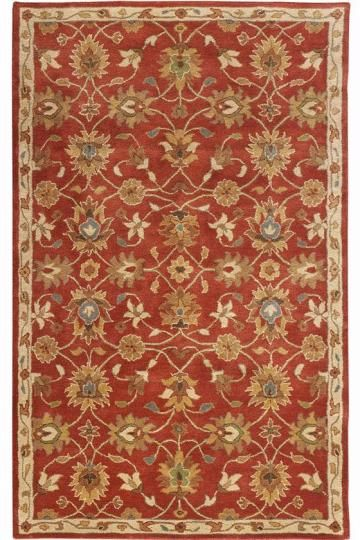 Kent Rug Rust Terra Cotta Red Grey And Green Pretty