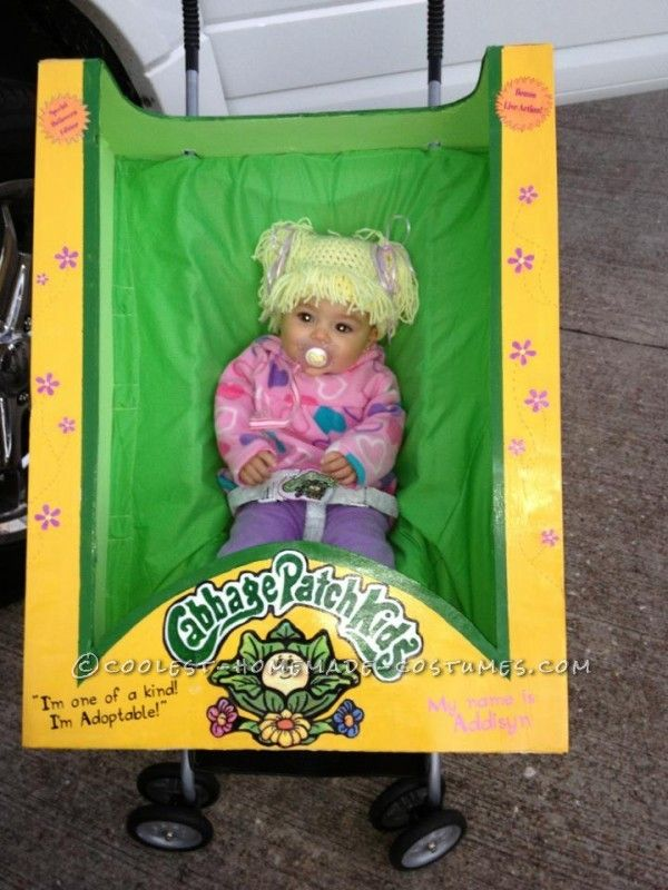 Cutest homemade cabbage patch doll costume for a baby cabbage patch cabbage and patches for Cabbage patch costumes