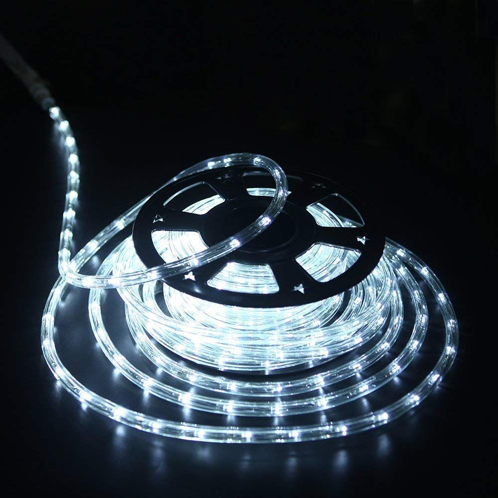 Yuliang 100 Feet 1 2 Thick 110v 2wire Waterproof Led Rope Light Kit For Background Lighting Christmas Lightingbridgesea With Images Led Rope Lights Led Rope Waterproof Led