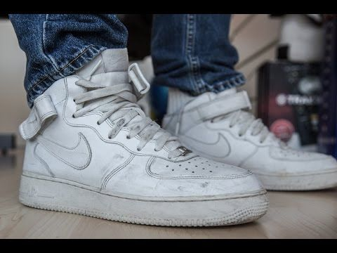 White used Nike Air Force 1 - stomp a