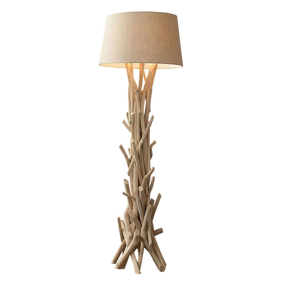 Awesome Treibholz Stehlampe CARA cm sand Stehleuchte Leuchte Lampe Holz in M bel u Wohnen Beleuchtung