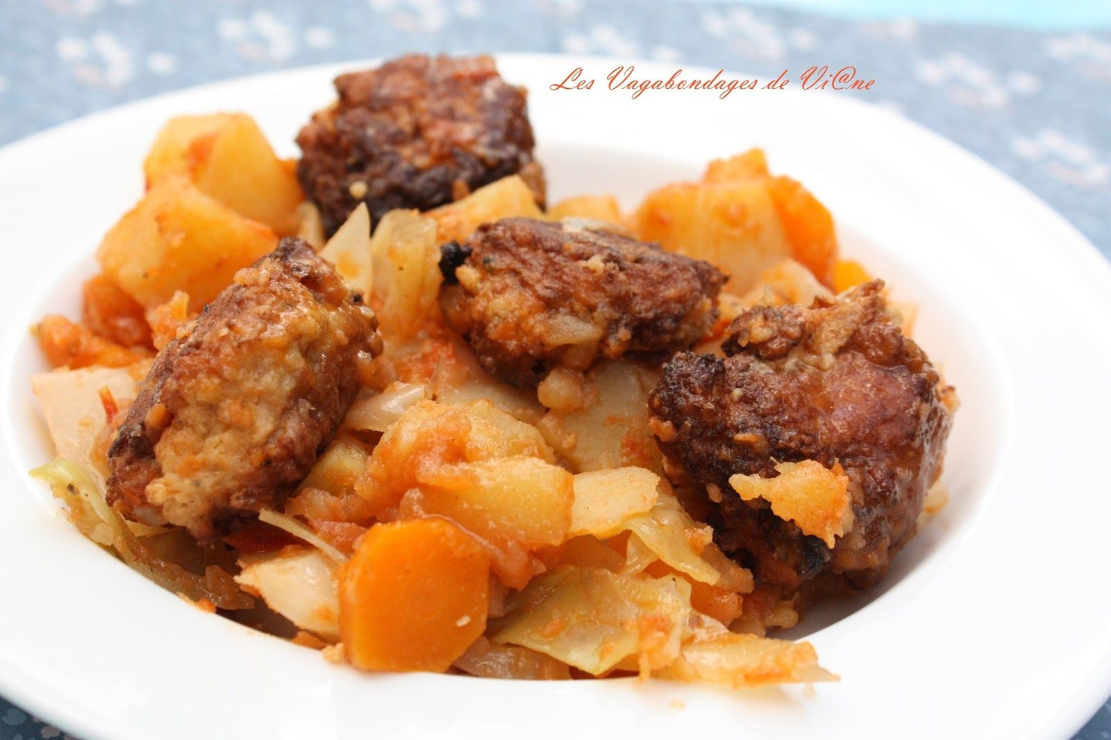 """Les thiou boulettes de Sylviane du blog """"Les Vagabondages de Vi@ne"""" inspirées du blog """"La tendresse en cuisine"""""""