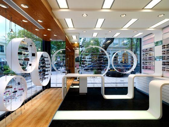 b64520deb0 Optic shop Laskaris | Glasses | Retail store design, Store design ...