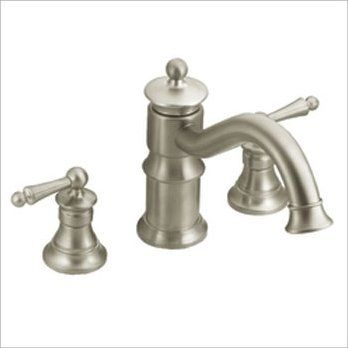Showhouse by Moen presents the Waterhill two handle Roman tub faucet ...