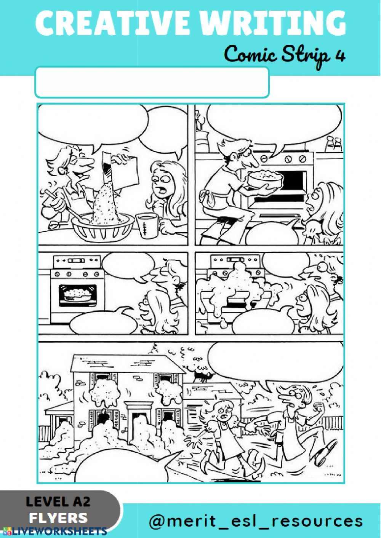 Comic Strip - Write a story: Creative writing exercise pdf