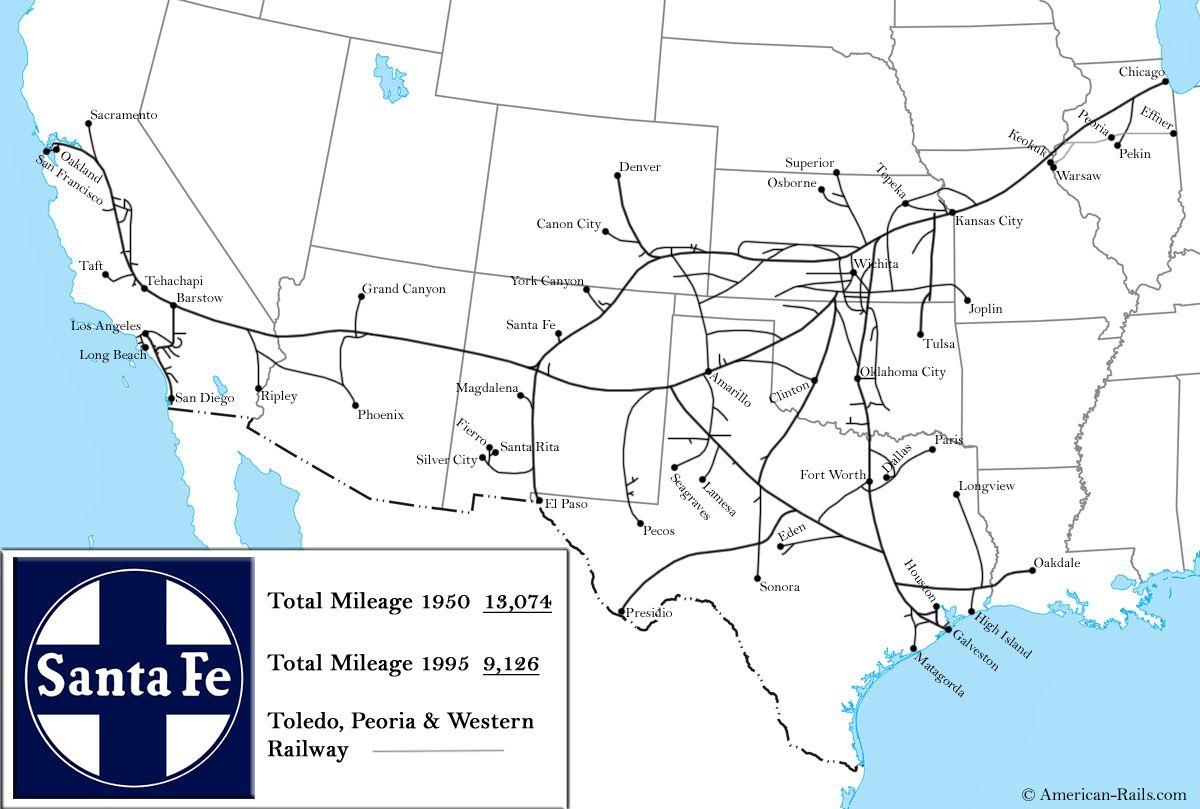 The Atchison Topeka And Santa Fe Railway Santa Fe Railroad