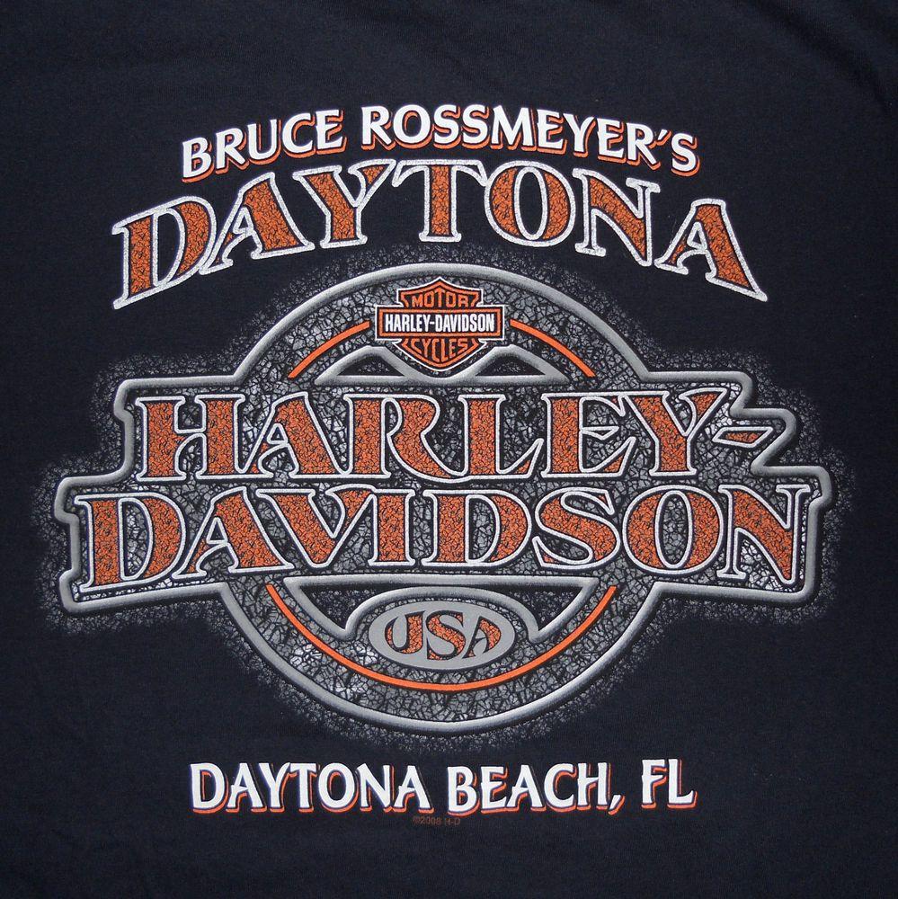 Bruce Rossmeyers Harley Davidson T Shirt Large Daytona Beach Fl Hear The Call Harleydavidson