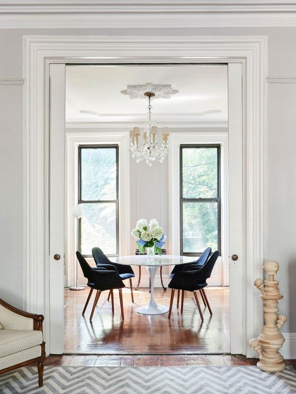 Brooklyn Brownstone Dining Room Saarinen Tulip Table