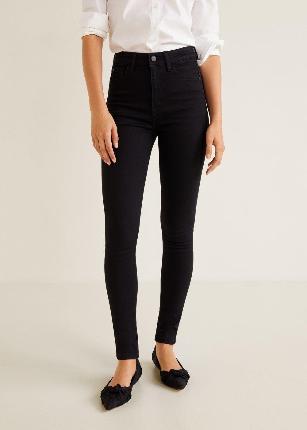 Ladies Mango Jeans High Waist Skinny Colour Jeggings Womens Denim Blue Jean