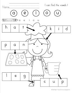 Find the vowel and color it. This is great CVC practice