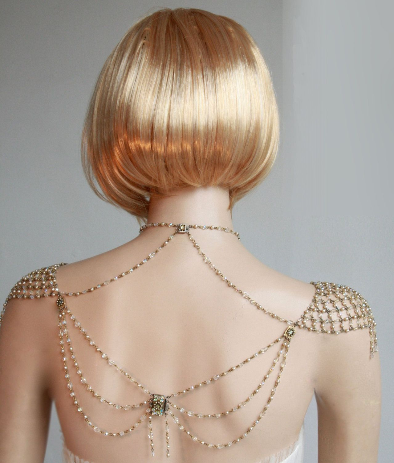 Necklace for the shoulders s inspiration beaded pearls and