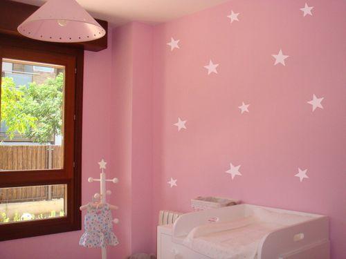 Decoracion paredes estrellas girly room for Cuartos decorados con estrellas