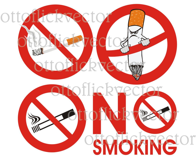 NO SMOKING VECTOR clipart, warning signs eps, ai, cdr, png, jpg ...