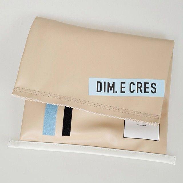 """""""DIM. E CRES clutch bag (beige/black) 990.-"""""""