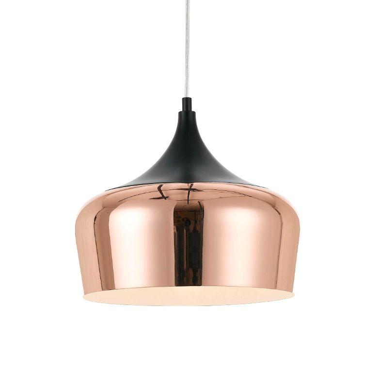 Telbix Polk 30 Medium Pendant Light Copper Black 89 00 Copper Pendant Lights Copper Lighting Copper Light Fixture