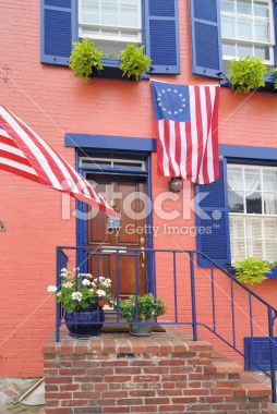 Annapolis Pink House, Maryland USA Royalty Free Stock Photo