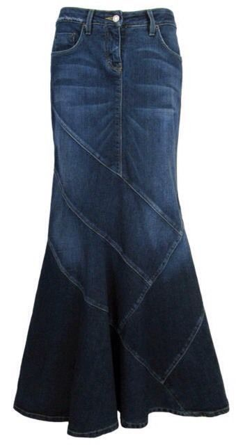 Size 27 Gorgeous BEBE Long Denim Mermaid Maxi Jean Skirt