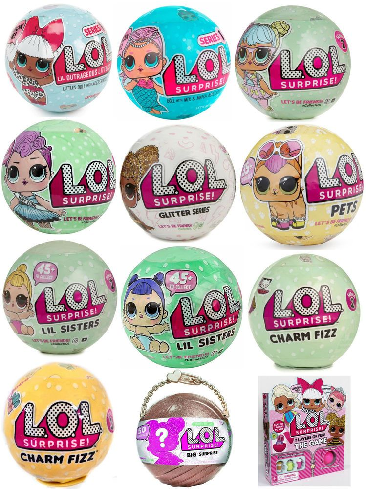 Authentic LOL Surprise SERIES 3 Confetti Pop Wave 2 Doll 1 Ball Big Sisters NEW