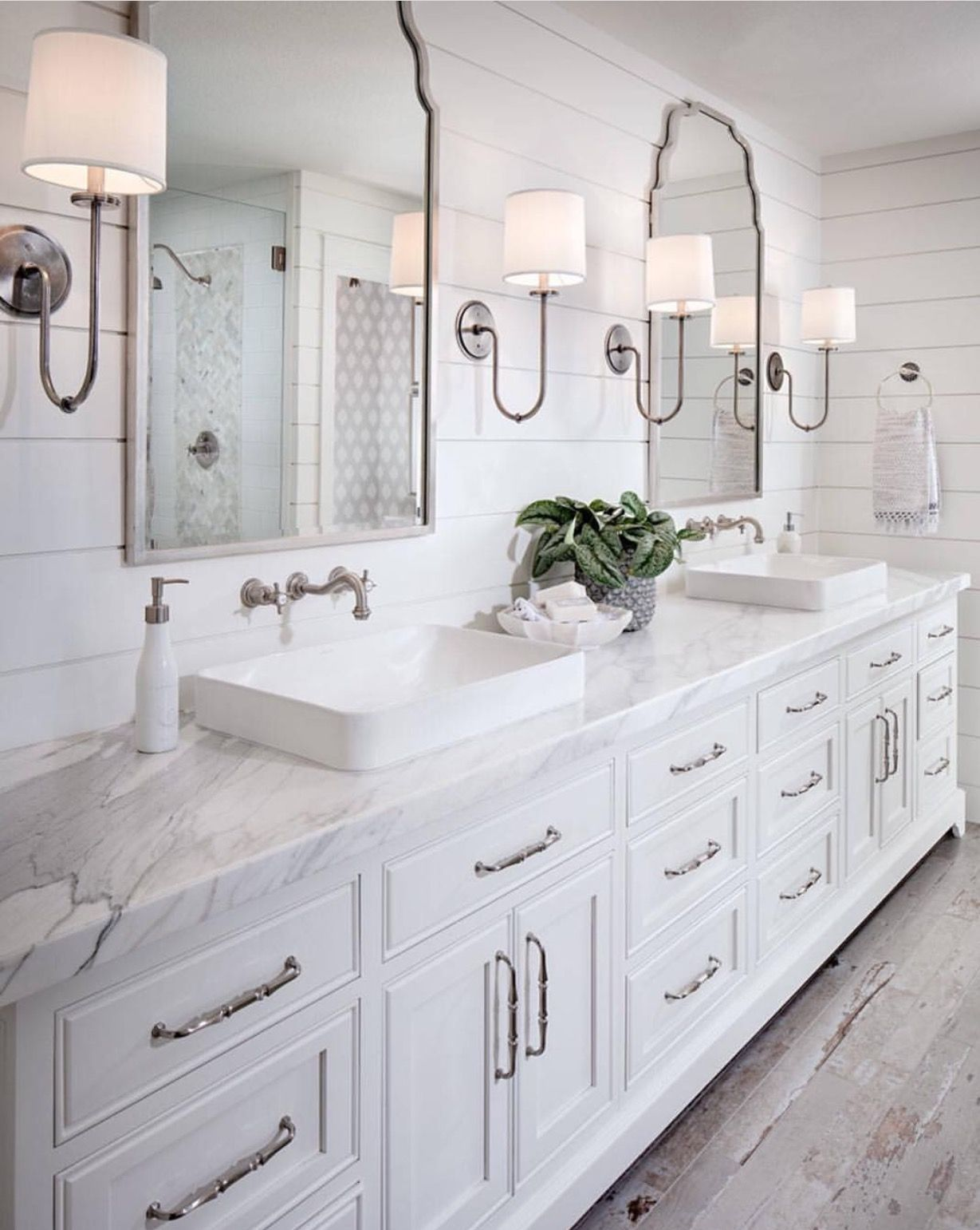 Upstairs hall bath mirrors | |home| | Pinterest | Hall, Bath and ...