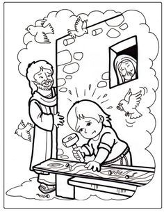 Jesus On Trial Coloring Page Google Search Sunday School 5 7