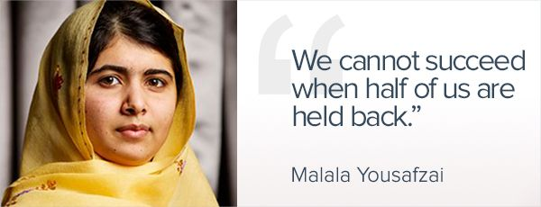 Malala Yousafzai Leadership Quotes Women Leadership Quotes Gender Equality Quotes