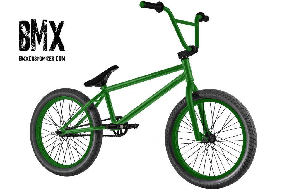 Custom Bmx Bike Green Bmx Bikes Bmx Bike Design
