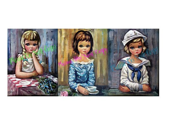 1960's Harlequin Girls  DIGITAL DOWNLOAD  by PaperGoodsParadise