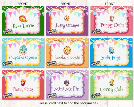shopkins party food tent labels taco terrie juicy by maryanncolors