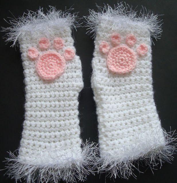 way cute! | Crochet | Pinterest | Croché, Ganchillo y Guantes