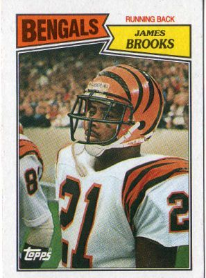 Cincinnati Bengals James Brooks 186 Topps 1987 Nfl American Football Trading Card Football Nfl Football Players Autograph Sign