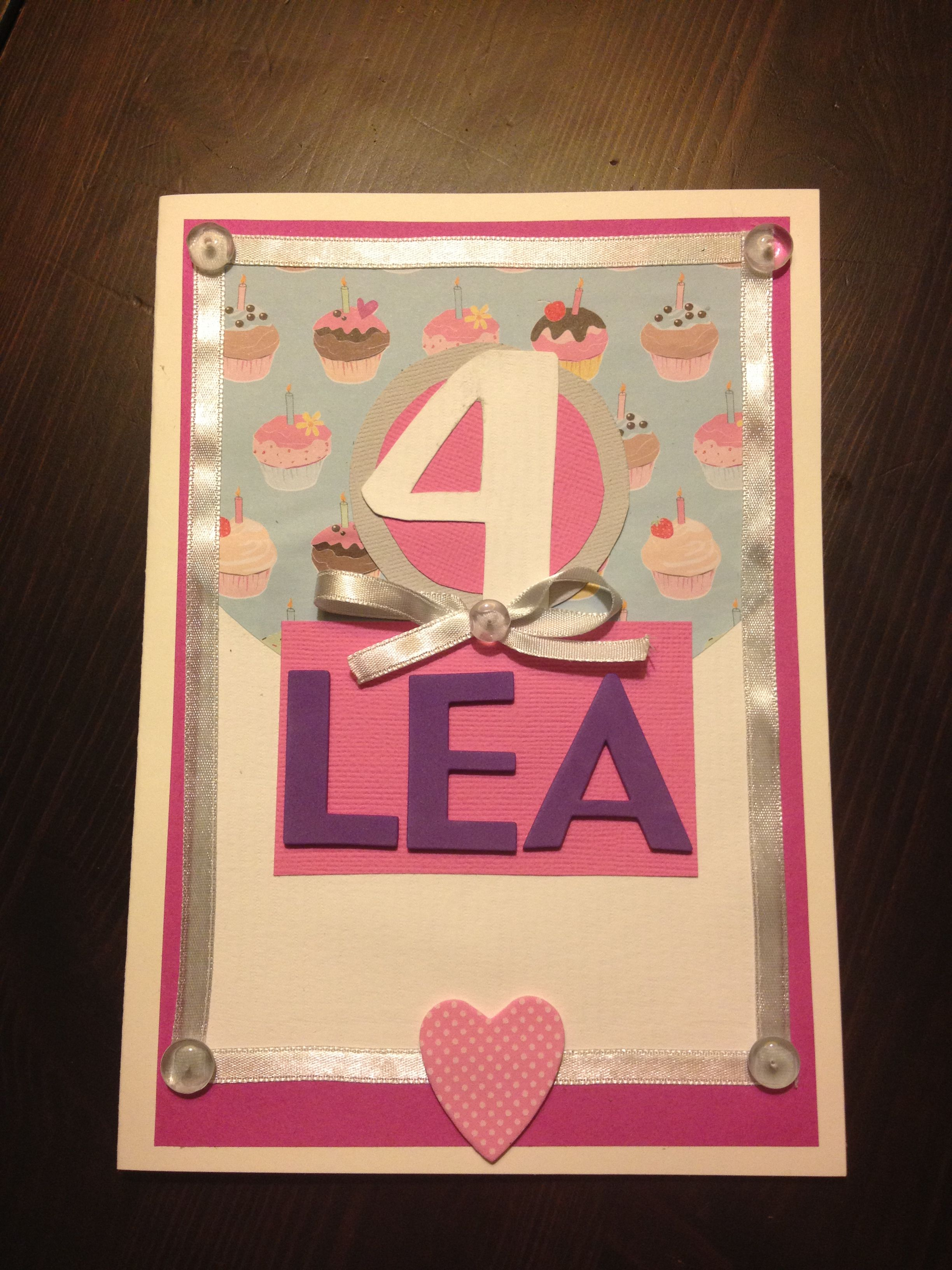 Homemade Birthday Card For 4 Year Old Girl