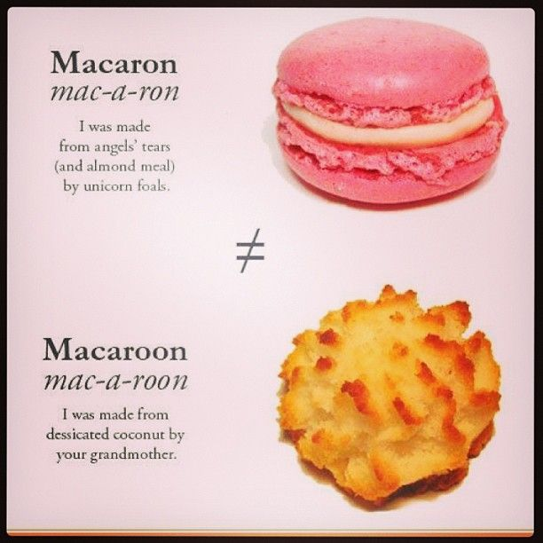 Cookie Conundrum Macaroons Vs Macarons Macaroons Almond Recipes Macarons