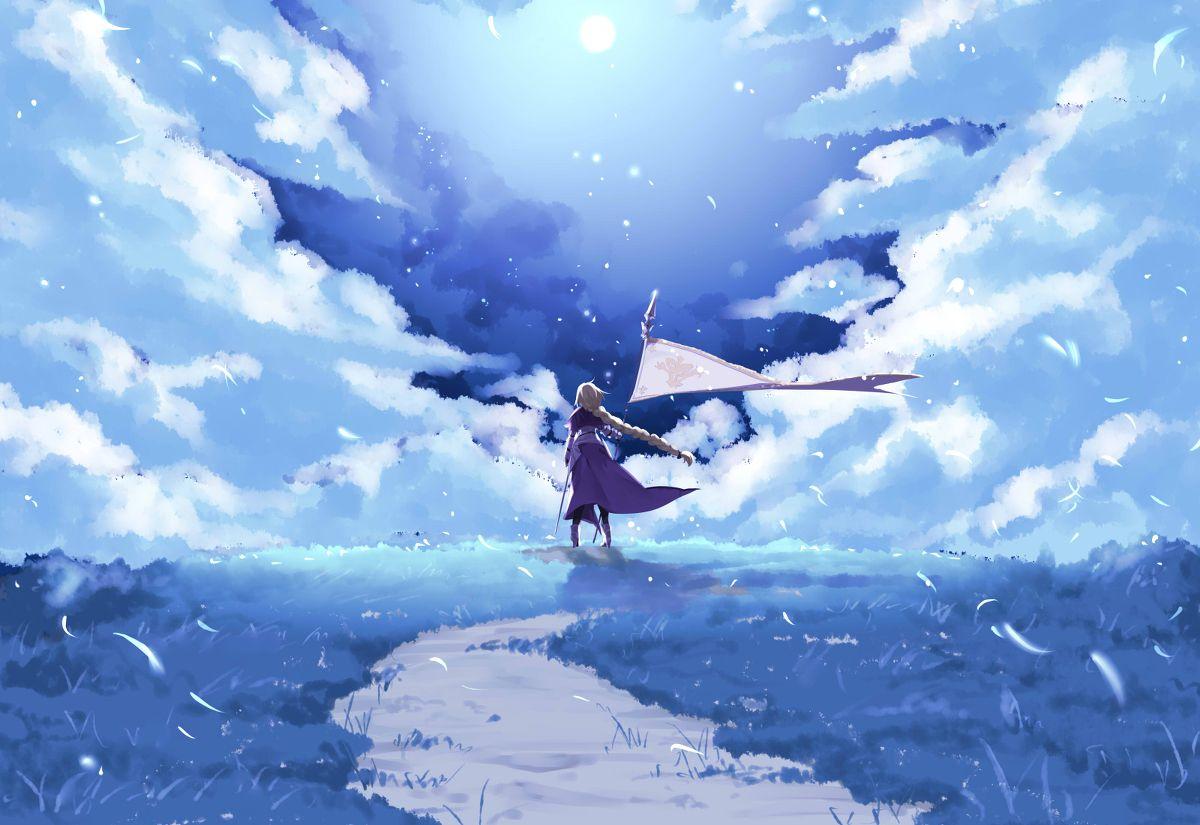 Fate Grandorder Fgo風景 はちはちのイラスト 幻想的なイラスト ジャンヌダルク 壁紙 アニメ