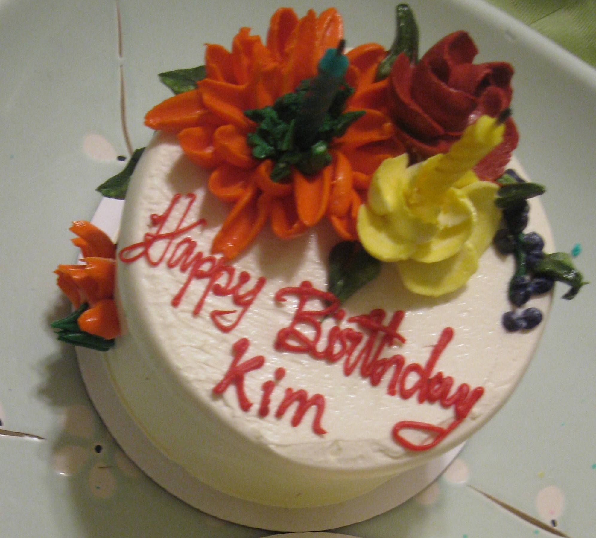 Picture Only Happy Birthday Kim Recipes Cake Decorating