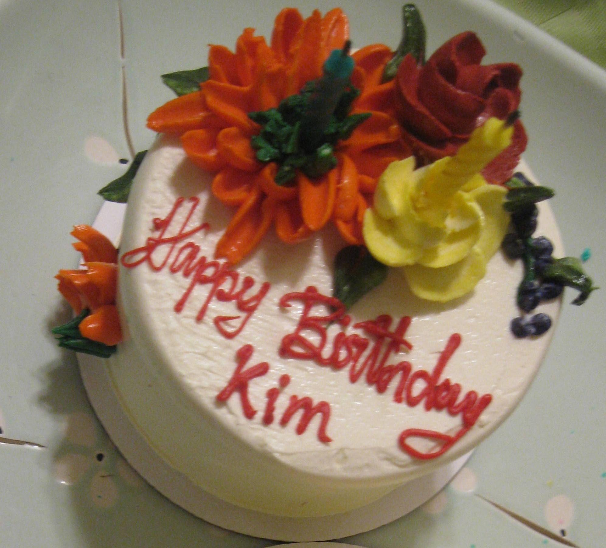 Picture only Happy Birthday Kim