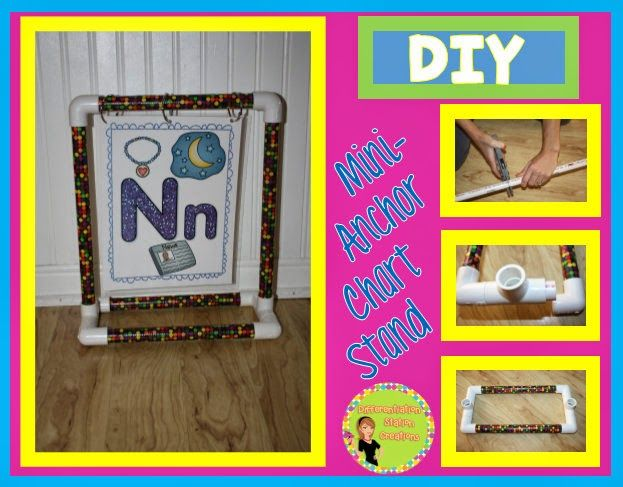 Step By Step Directions On How To Build A Tabletop Stand Out Of Pvc Easy To Create And Great For Differentiation Station Creations Anchor Charts Diy Classroom