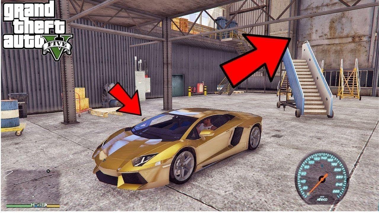 Gta 5 Secret Location Of Pure Gold Lamborghini Gold Lamborghini Gta 5 Secret Location