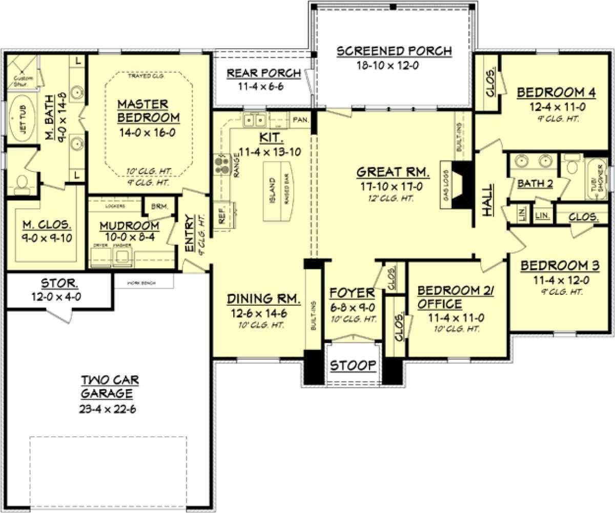 House plan 04100082 european plan 2000 square feet 4