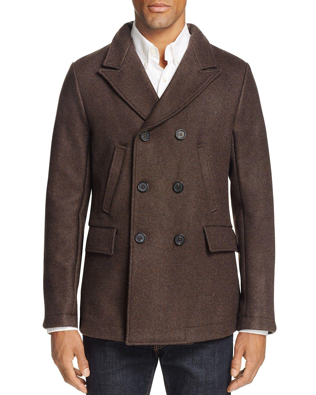 Billy Reid Bond Wool Blend Pea Coat 100 Bloomingdale's