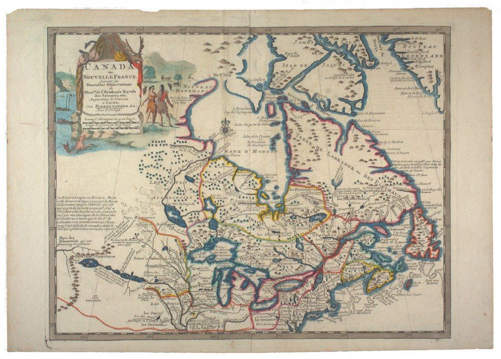 Early Canada Map Pin on 18th Century Research