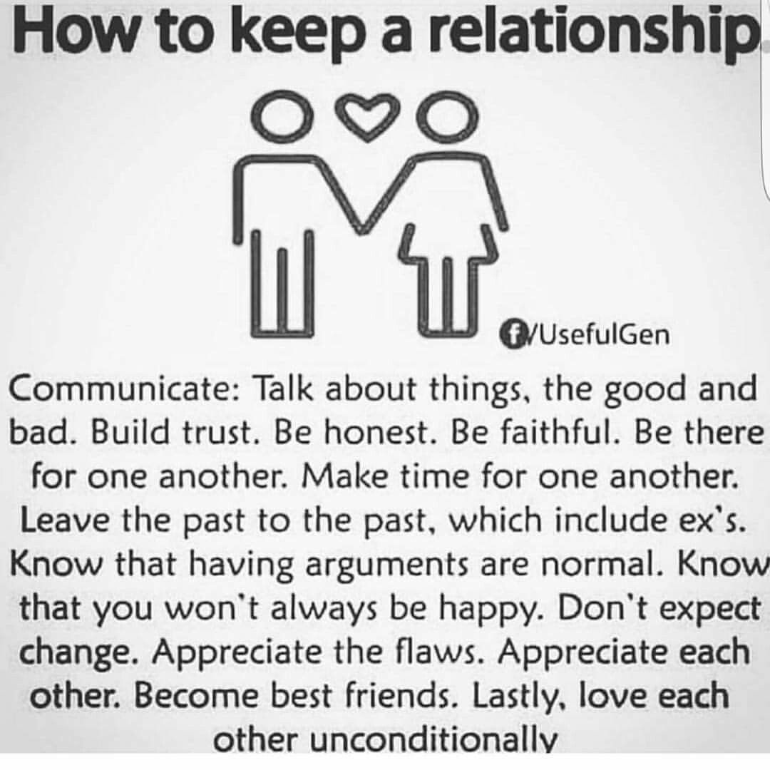 Notice that love is the last thing A relationship isn t love A relationship is respect and partnership made beautiful because of love