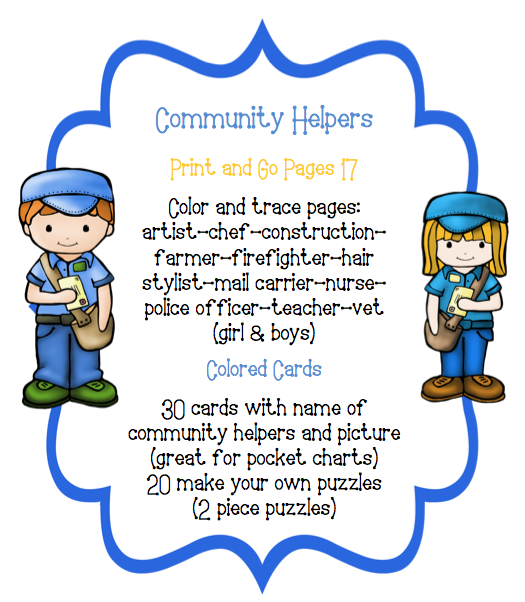 Toddler Community Helpers Preschool Printables Community Helper