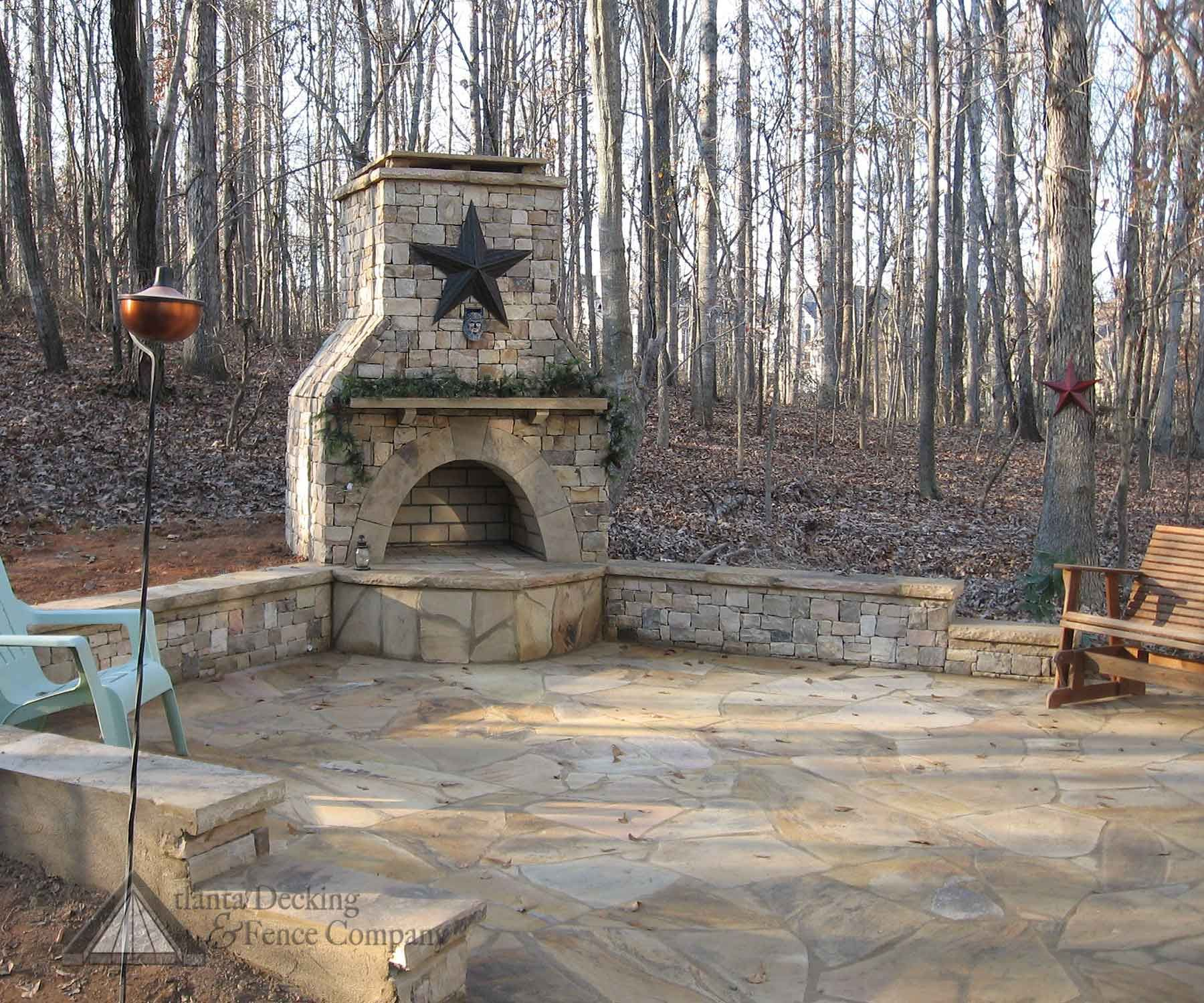 Enjoyable Nice Stone Fireplace Benches And Patio Great Any Season Frankydiablos Diy Chair Ideas Frankydiabloscom