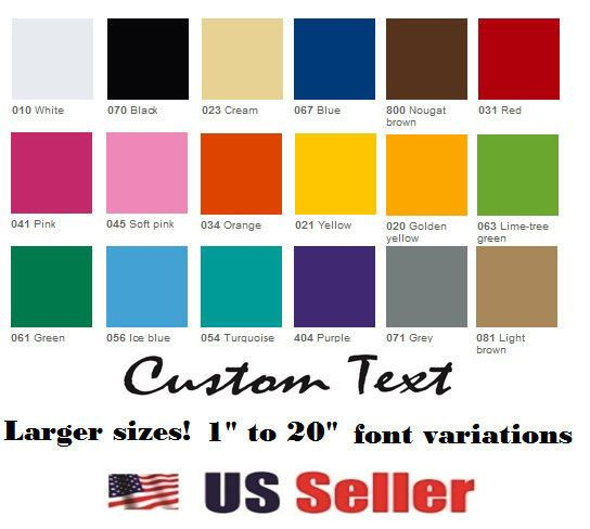 Custom Vinyl Lettering Text Personalized WallWindowCar - Car sticker decals custom