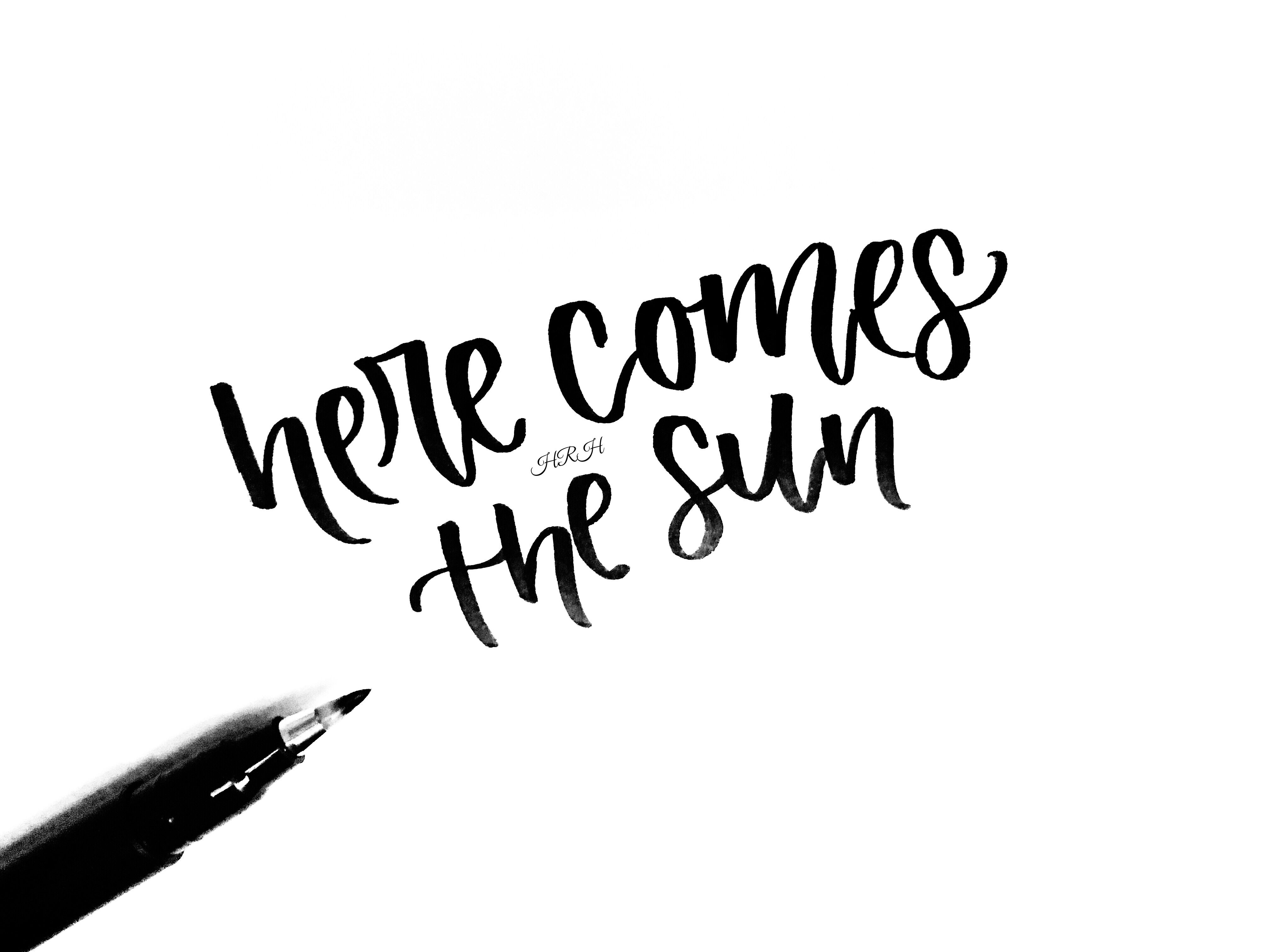Here Comes The Sun And I Say It S All Right Thebeatles